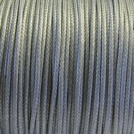 Nylon waxkoord 1mm grijs