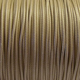 Nylon waxkoord 1mm light coffee
