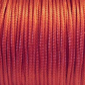 Nylon waxkoord 1mm warm rood