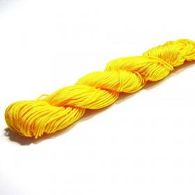 Shamballa koord donker geel