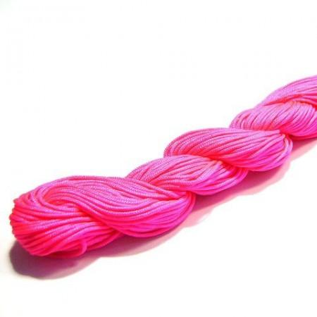 Shamballa koord fluo pink