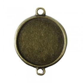 Basic setting voor cabochon 20mm bronskleur
