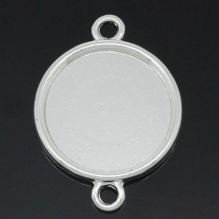 Basic setting voor cabochon 25mm zilverkleur