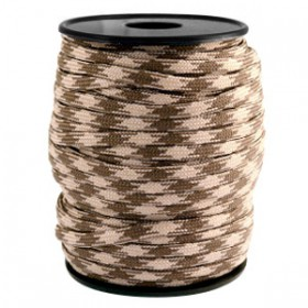 Paracord 4mm Beige-dark brown