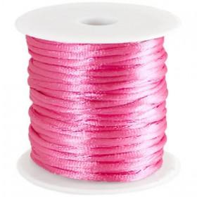 Satijnkoord 2mm Roze