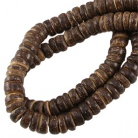 Disc kokos 8 mm Dark brown