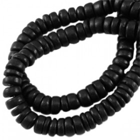 Disc kokos 8 mm Black