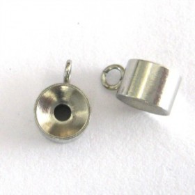 Metalen spacer rondel met oog 304 Stainless steel
