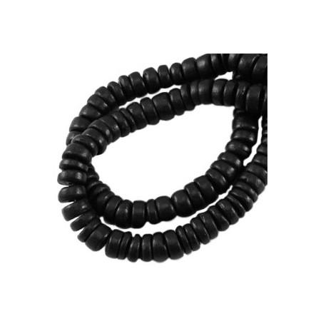 Disc kokos 6 mm Black