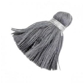 kwastjes 3.6cm Zilver-anthracite grey