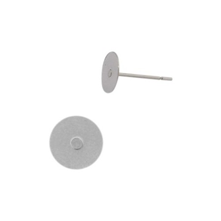 Roestvrij stalen (RVS) oorbellen/oorstekers kleefvlak 8mm