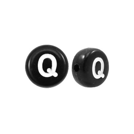 Acryl letterkraal rond Q zwart