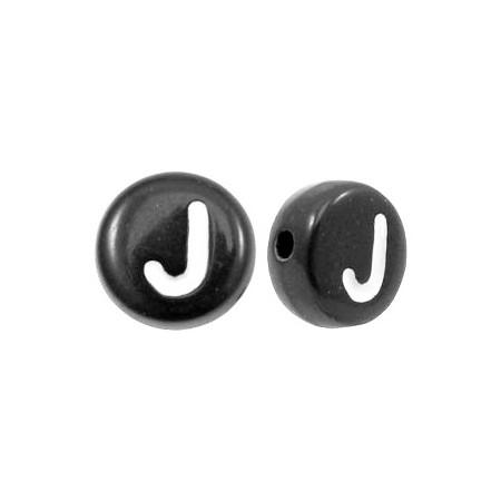 Acryl letterkraal rond J zwart