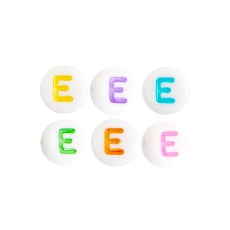Acryl letterkraal rond E gekleurd