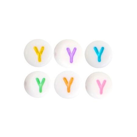 Acryl letterkraal rond Y gekleurd