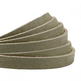DQ leer plat 5mm nubuck Sage green