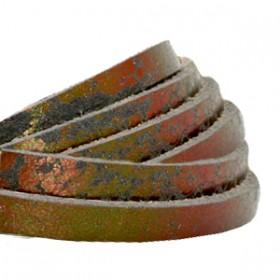 DQ leer plat 5mm metallic print Bronze gold