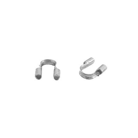 DQ draadbeschermer 5mm small Antiek zilver (nikkelvrij)