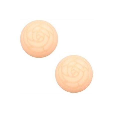 Cabochon Polaris 20mm matt roos Light peach
