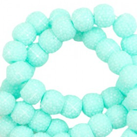 Sparkling beads 6mm Bright turquoise green