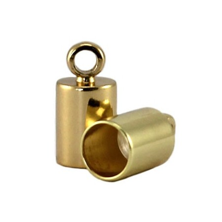 DQ eindkapje 3 mm DQ Gold plated duurzame plating