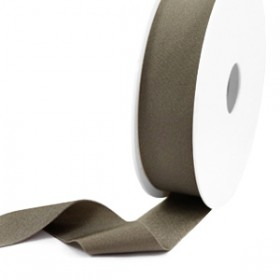 Elastisch lint 25mm Metallic dark taupe