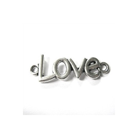 Deco-art love zilverkleur