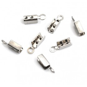 Veterklemmen 10x3mm 304 Stainless steel zilverkleur