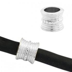 DQ metaal tube 8 x 10 mm Antiek zilver( nikkelvrij )