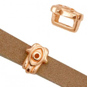 DQ metaal schuiver Hamsa hand Ø5.2x2.2mm Rosé goud (nikkelvrij)