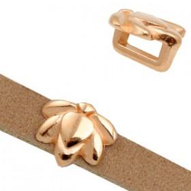 DQ metaal schuiver Lotus Ø5.2x2.2mm Rosé goud (nikkelvrij)