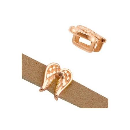 DQ metaal schuiver Angel wings Ø5.2x2.2mm Rosé goud (nikkelvrij)