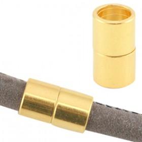 DQ metalen magneetslot Ø6.2mm Goud (nikkelvrij)