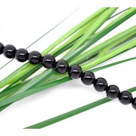 Half edelsteen kralen rond 6mm agaat Black