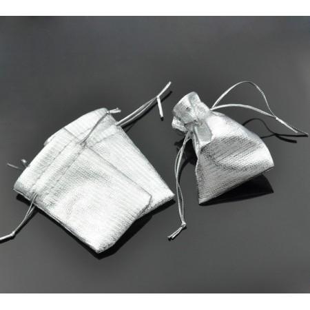 Cadeau Zakje 7 x 5cm zilver