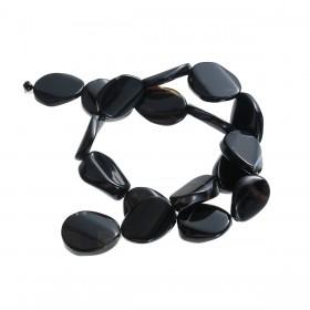 Half edelsteen agaat Black