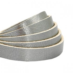 DQ leer plat 10mm metallic Silver