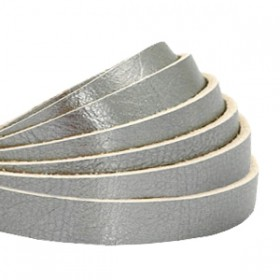 DQ leer plat 5mm metallic Silver