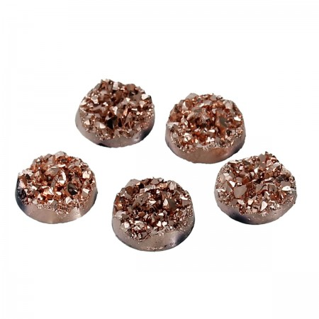 12mm platte cabochon Drusy Resin Champagne