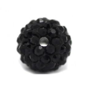 Czech rhinestone beads 6mm Black