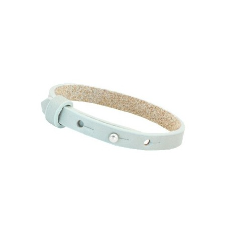Cuoio armbanden leer 8 mm voor 12 mm cabochon Grayed sea green