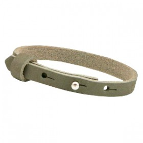 Cuoio armbanden leer 8 mm voor 12 mm cabochon Sage green