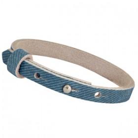 Nubuck Cuoio armbanden leer 8 mm voor 12 mm cabochon Denim Blue