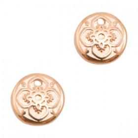 DQ bedeltje rond mandala Rosé goud (nikkelvrij)