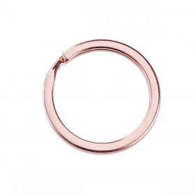 Sleutelhanger ring Rose Gold plated