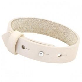 Cuoio armbanden leer 15 mm voor 20 mm cabochon Cream ivory beige