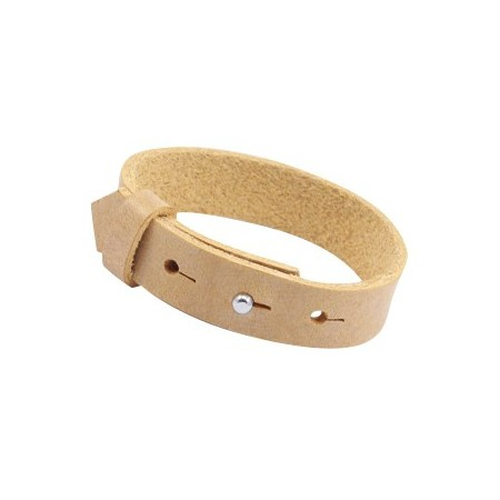Cuoio armbanden leer 15 mm voor 20 mm cabochon Ochre yellow gold