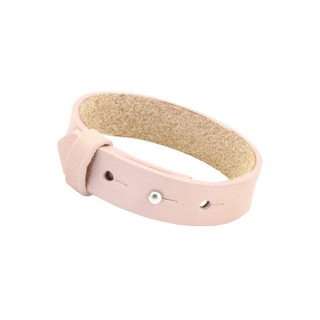 Cuoio armbanden leer 15 mm voor 20 mm cabochon Soft rose quartz
