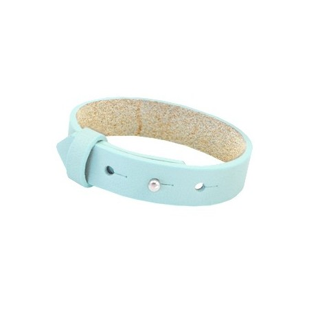 Cuoio armbanden leer 15 mm voor 20 mm cabochon Aruba blue