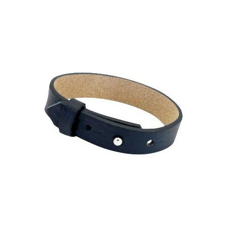 Cuoio armbanden leer 15 mm voor 20 mm cabochon Dark midnight blue